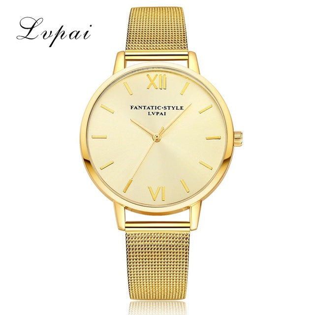2017 New Lvpai Women Watch Luxury Gold Bracelet Dress Watch Top Quality Ladies Quartz Watch Women Wrist Sport Watch Dropshiping