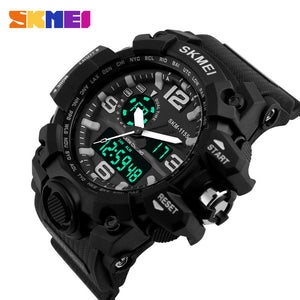 SKMEI New S Shock Men Quartz Digital Watch Big Dial Sport Watches For Men Luxury Brand LED Military Waterproof Wristwatches