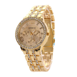 Fashion Ladies Watch Women Luxury Crystal Diamond Wrist Women's Watches relogios feminino Rose Golden Watches-Female