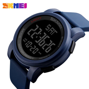 SKMEI Brand Men's Watches LED Digital Watch Men Wrist Watch Black Alarm 50m Waterproof Sport Watches For Men Relogio Masculino
