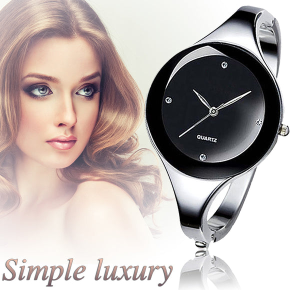 2017 Women Bracelet Watches Crystal Dress Ladies fashion Stainless Steel Round Dial unique designer quartz-watch montres femme