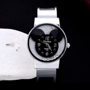 XIRHUA Fashion Bangle Watches Women Brand Mickey Mouse Stainless Steel Cartoon Kids Children Watch saat relojes mujer montre