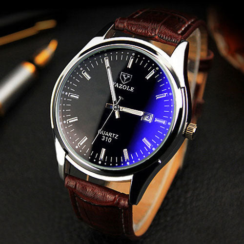 YAZOLE New 2018 Wrist Watch Men Watches Top Brand Luxury Famous Quartz Wristwatch For Male Clock Relogio Masculino With Calendar