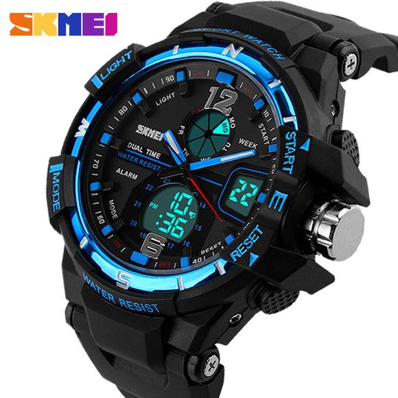 2016 SKMEI G Style Fashion Digital-Watch Mens Sports Watches Army Military Wristwatch Erkek Saat Shock Resist Clock Quartz Watch