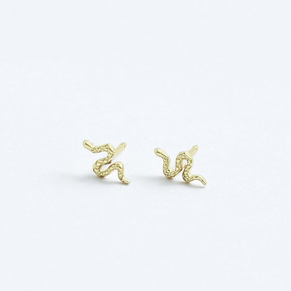 Stephanie Grace Jewellery- snake studs- solid 14k gold