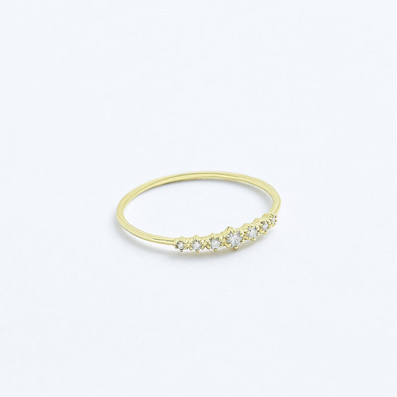 Stephanie Grace Jewellery- diamond band ring- solid 14k gold