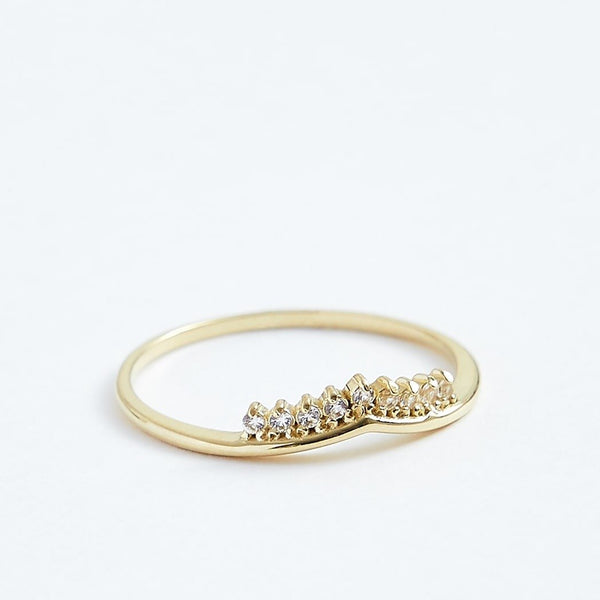 Princess Ring - Solid 14k Gold - Stephanie Grace Jewellery
