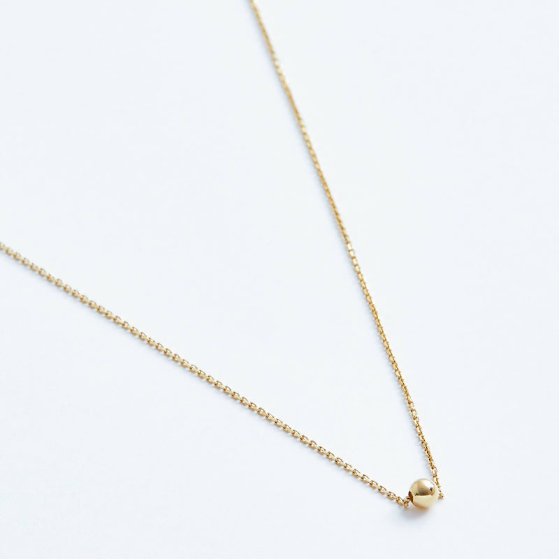 Bead Necklace in Solid 14k Gold | Stephanie Grace Jewellery