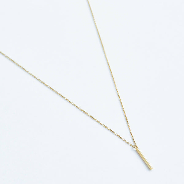 Bar Necklace in Solid 14k Gold | Stephanie Grace Jewellery