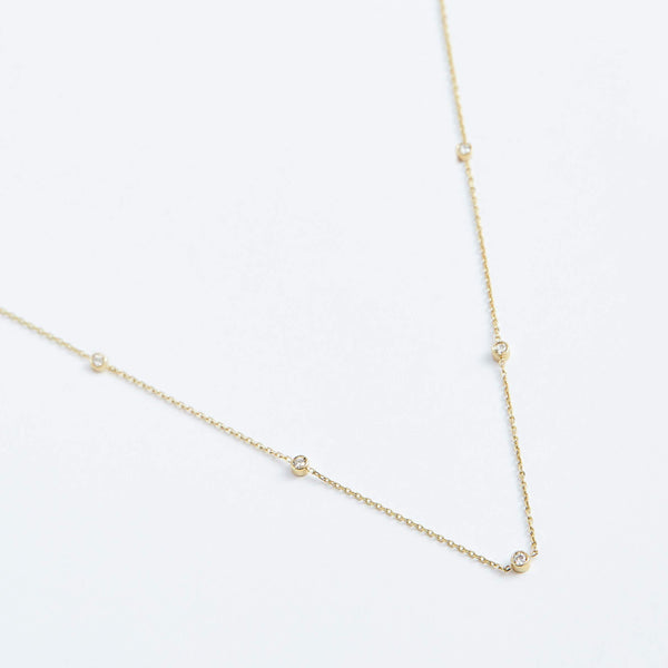 Dreamer Necklace - Solid 14k Gold - Stephanie Grace Jewellery
