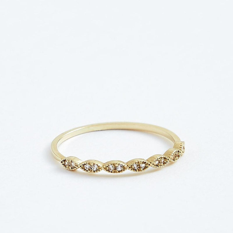 Eyelet Ring - Solid 14k Gold - Stephanie Grace Jewellery
