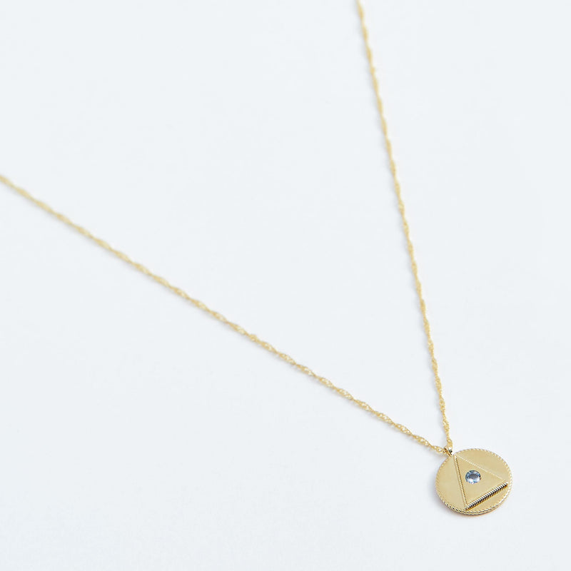 Third Eye Coin Necklace - Solid 14k Gold - Stephanie Grace Jewellery