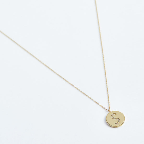 Coin Letter - Solid 14k Gold - Stephanie Grace Jewellery