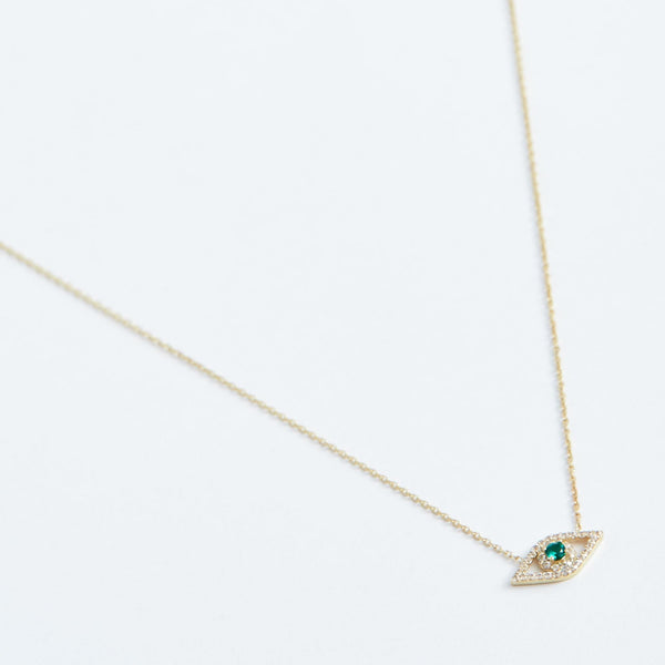 Protecting Eye Necklace - Solid 14k Gold - Stephanie Grace Jewellery