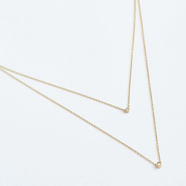 Zoe Necklace - Solid 14k Gold - Stephanie Grace Jewellery