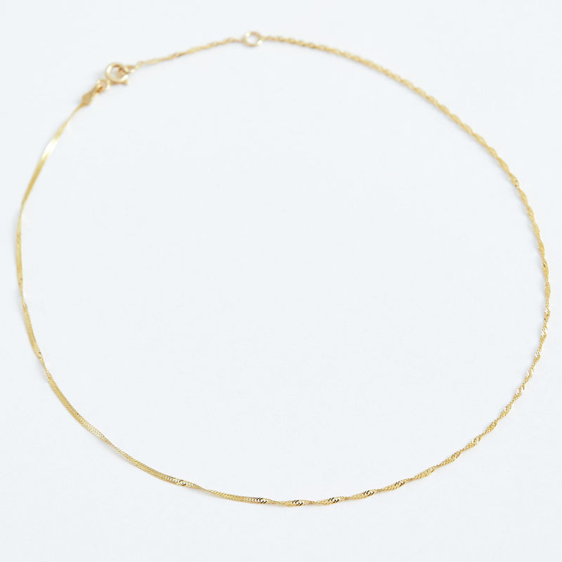 Twist Chain Choker - Solid 14k Gold - Stephanie Grace Jewellery
