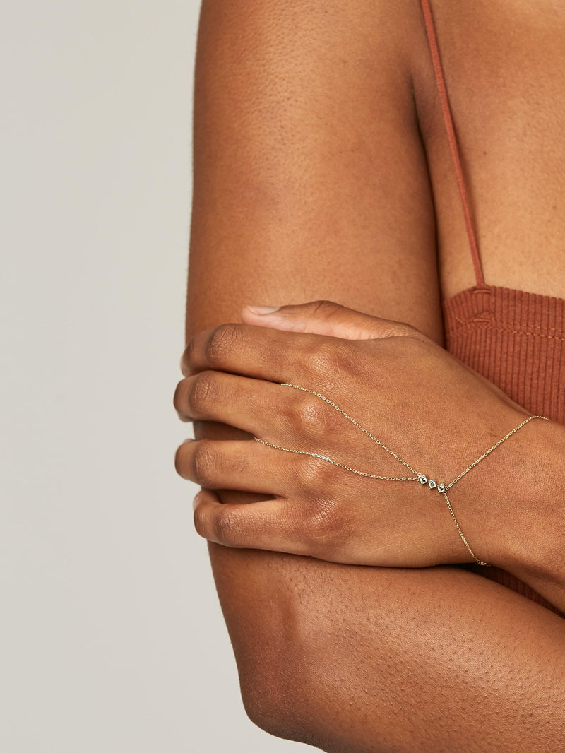 Chain Ring - Solid 14k Gold - Stephanie Grace Jewellery