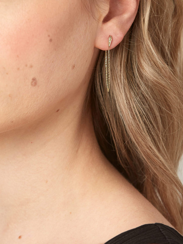 Kite Chain Studs - Solid 14k Gold - Stephanie Grace Jewellery