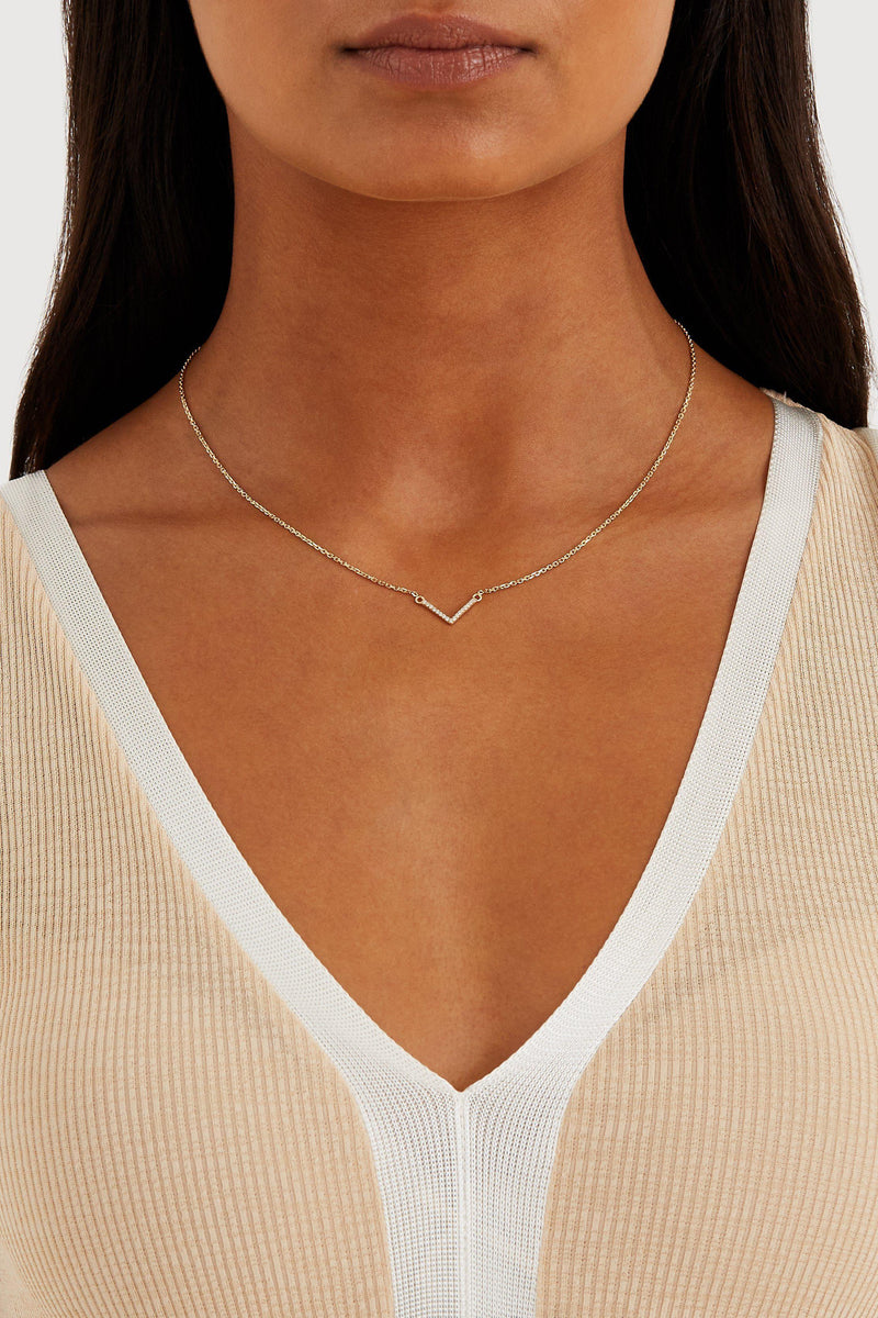V Necklace - Solid 14k Gold - Stephanie Grace Jewellery