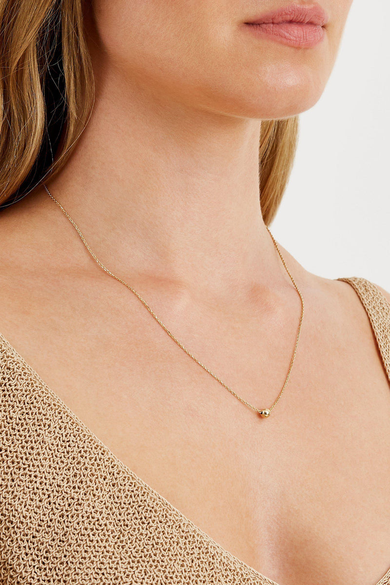 Bead Necklace - Solid 14k Gold - Stephanie Grace Jewellery