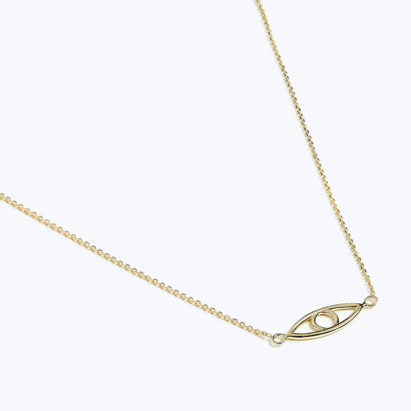 Delicate Eye Necklace - Solid 14k Gold - Stephanie Grace Jewellery