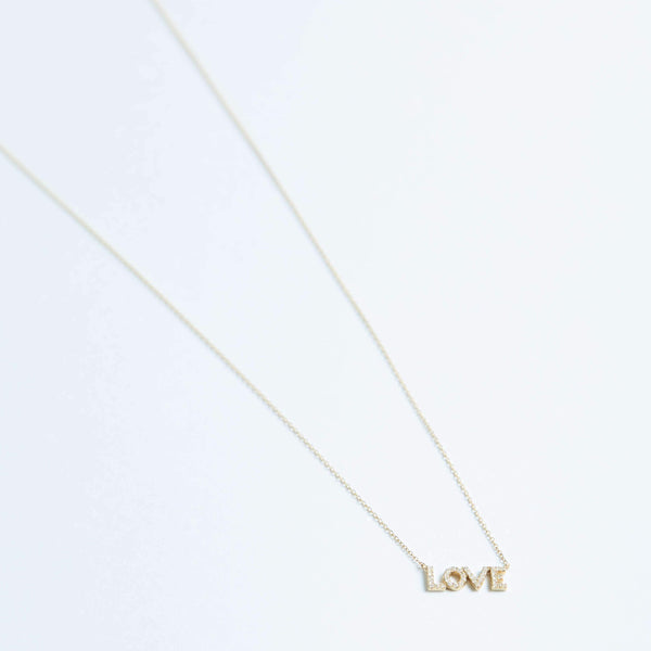 Love Diamond Necklace in Solid 14k Gold | Stephanie Grace Jewellery