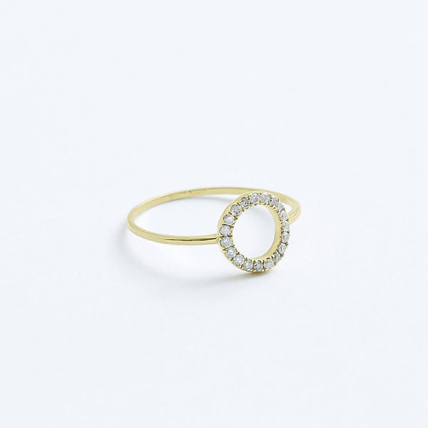 Stephanie Grace Jewellery- circle diamond ring- solid 14k gold