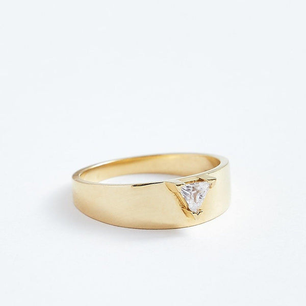 Wide Ring - Solid 14k Gold - Stephanie Grace Jewellery