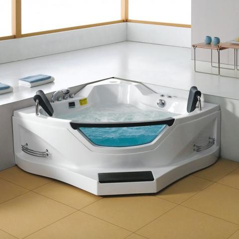 "Mesa BT-084 Whirlpool Air Two Person Corner Tub 60""L x 60""W x 27""H"
