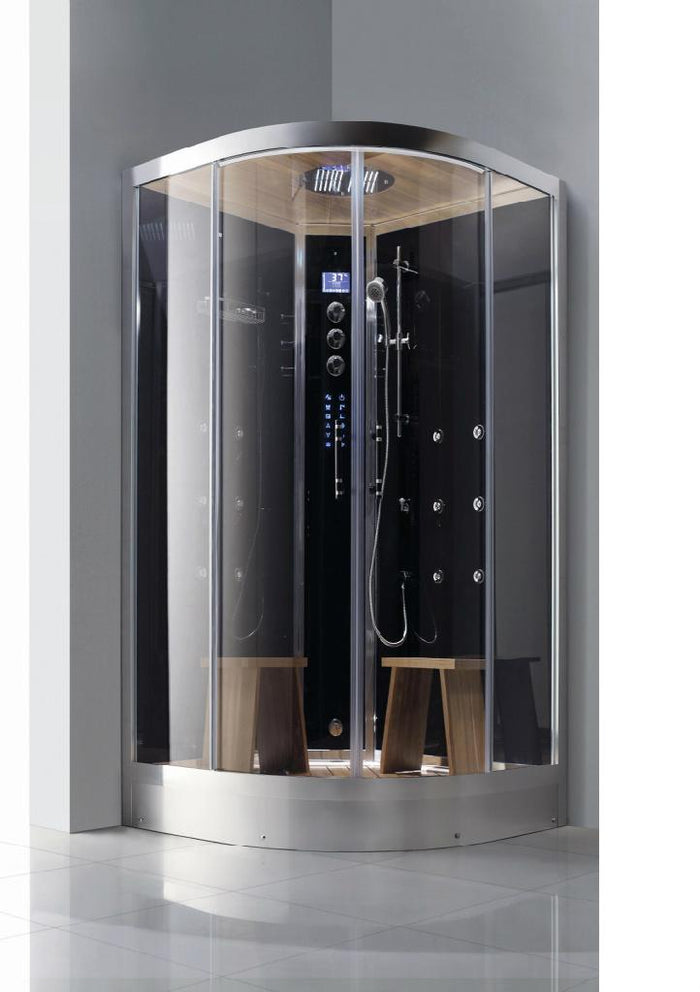"Athena WS-105 Steam Shower 47""W x 47""D x 89""H - Black/White"