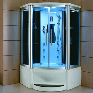 "Mesa WS-600P Steam Shower Tub Combo 55"" x 55"" x 87"""