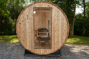 Almost Heaven Watoga Outdoor Barrel Sauna Holds 2 Persons