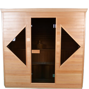 Aleko Wet Dry Sauna CED6HELSINKI 4-5 Person Canadian Red Cedar Wood with 4.5 kW ETL Electrical Heater