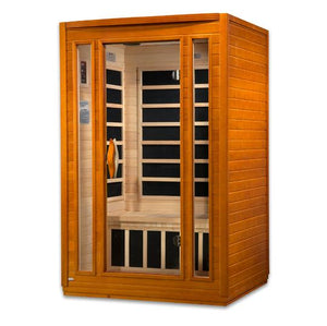 Golden Design Sauna: Dynamic San Marino 2-person Far Infrared Sauna Low EMF DYN-6206-01