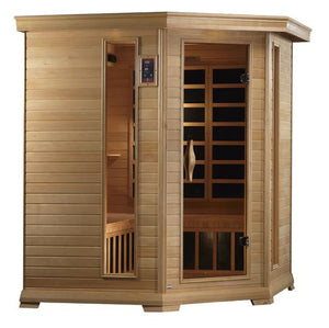 (DISCONTINUED MODEL) Golden Design Sauna Monte Carlo 5-person Corner Far Infrared Sauna Canadian Hemlock, Near Zero EMF GDI-6445-01--Discontinued