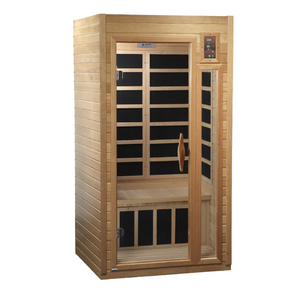 "Golden Designs Sauna: Dynamic ""Barcelona"" 2-person Far Infrared Sauna with Low EMF -GDI-6106-01"