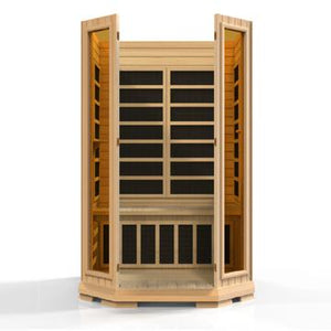 (DISCONTINUED MODEL) Golden Designs 2 Person Low EMF Far Infrared Sauna GDI-6272-01