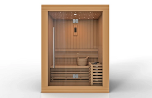 Golden Designs Sundsvall Edition 2 Person Traditional Steam Sauna - Canadian Red Cedar - GDI-7289-01