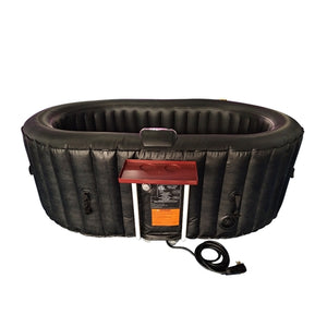 Inflatable Hot Tub Spa With Drink Tray and Cover - 2 Person - 145 Gallon - Black
