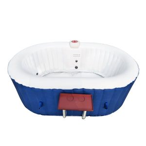 Inflatable Hot Tub Spa With Drink Tray and Cover - 2 Person - 145 Gallon - Dark Blue