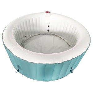 Inflatable Hot Tub Spa With Cover - 4 Person - 210 Gallon - Light Blue and White