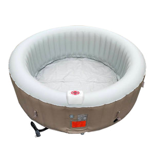 Inflatable Jetted Hot Tub Spa With Cover - 6 Person - 265 Gallon - Brown