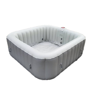 Inflatable Jetted Hot Tub Spa With Cover - 6 Person - 265 Gallon - Gray