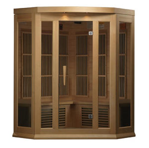 Golden Designs 3 Person Hemlock Maxxus LEMF FAR Infrared Sauna MX-K356-01-Find Your Bath