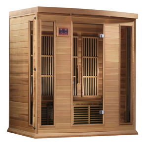 Maxxus Low EMF FAR Infrared Sauna Canadian Red Cedar MX-K406-01