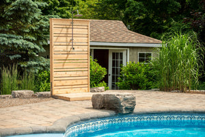 Dundalk Savannah Outdoor Shower with Canadian Timber CTC205