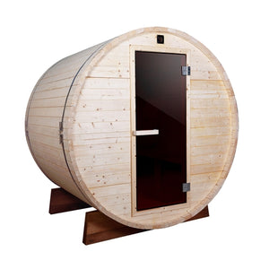 Aleko Outdoor Barrel Sauna with White Pine - 5 Person - 4.5 kW ETL Certified Heater
