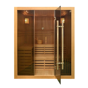 Aleko Wet Dry Sauna Canadian Hemlock - 4.5 kW ETL Certified Heater - 4 Person