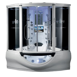 "Maya Bath Superior Steam Shower Tub Combo w/ TV - 64"" x 64"" x 88 inches"