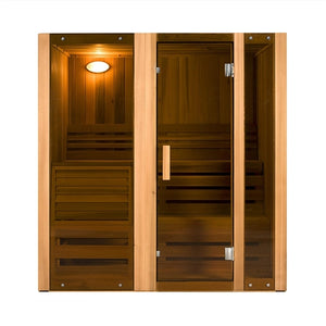 Aleko Wet or Dry Sauna Steam Room Canadian Cedar - 4.5 kW ETL Certified Heater - 4 Person